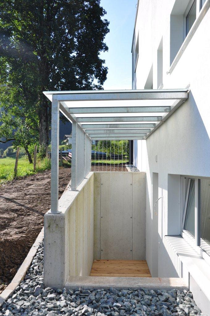 B&W Glasbau Glasdach Dach Sicherheit Teilvorgespanntenglas Windschutz