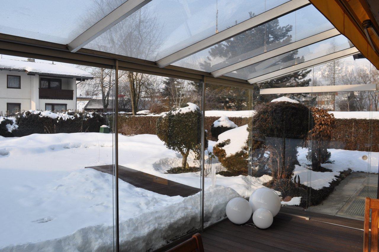B&W Glasbau Glasdach Dach Teilvorgespanntenglas Wintergarten