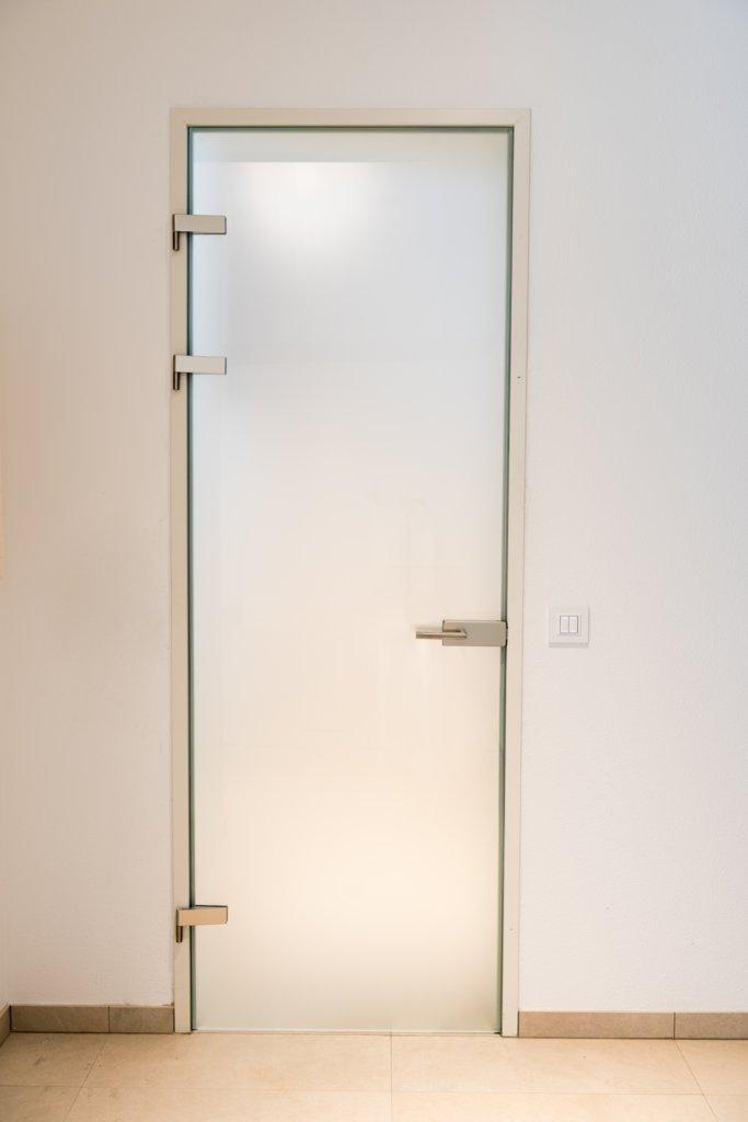B&W Glasbau Glastür Glas Tür Einscheibensicherheitsglas Milchglas