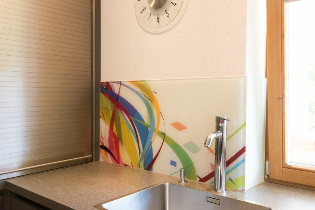 B&W Glasbau Rückwand Wand Küche Glas