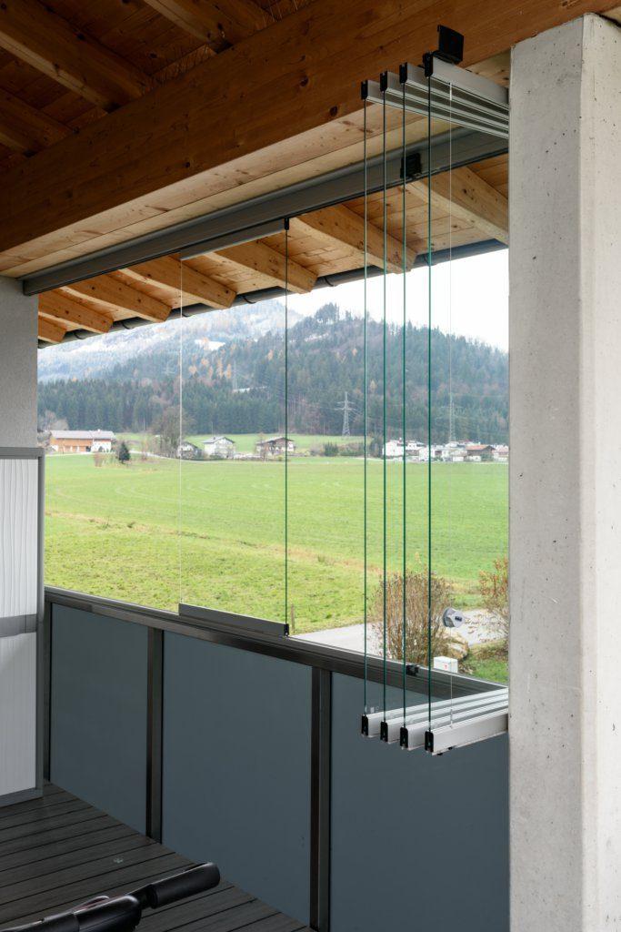 B&W Glasbau Sunflex Systeme Isolierglas Windschutz Verglasung Raumteiler Trennwand