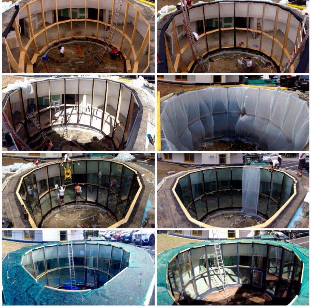 B&W Glasbau Verglasung Montage Spezialisten Bau Glaswand