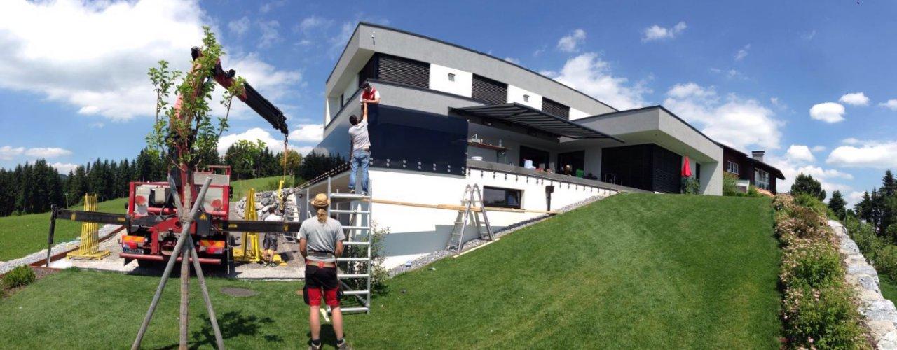 B&W Glasbau Verglasung Montage Spezialisten Bau Sichtschutz