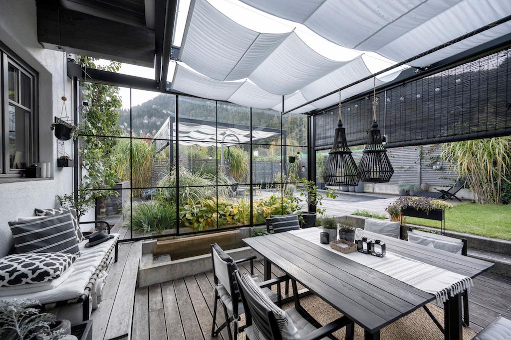 B&W Glasbau Kirchbichl, Ganzglasverglasung, Verglasung, Ganzglasanlage, Terrasse