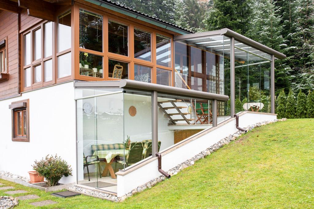 B&W Glasbau Kirchbichl Glasdach Verglasung Sicherheit Teilvorgespanntenglas